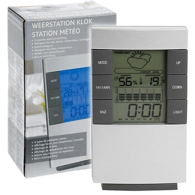 Stazione Meteo Wireless Luminoso Senza Fili Con Orologio Temperatura Meteo Data
