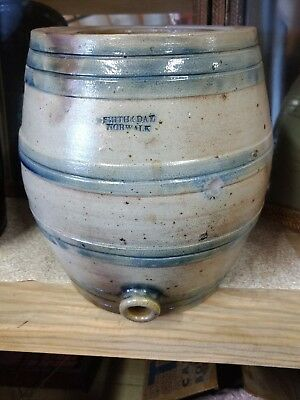 Antique Smith & Day 4 GAL Water Cooler Barrel Keg Blue Band 1840's