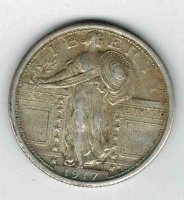 1917 25C Standing Liberty Silver Quarter Variety 1
