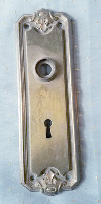 Decorative  Brass Door Handle Backplate Victorian Era