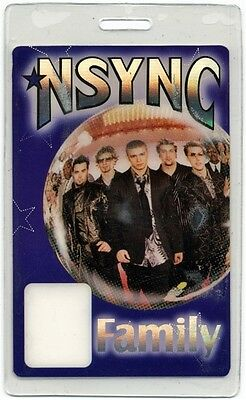 N Sync authentic 2000's concert tour Laminated Backstage Pass Justin Timberlake