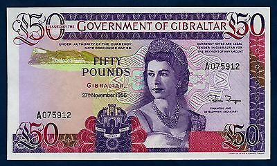 Gibraltar Banknote 50 Pounds 1986 UNC