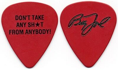Billy Joel real 1990's tour Don't Take Sh*t From Anybody signature Guitar Pick