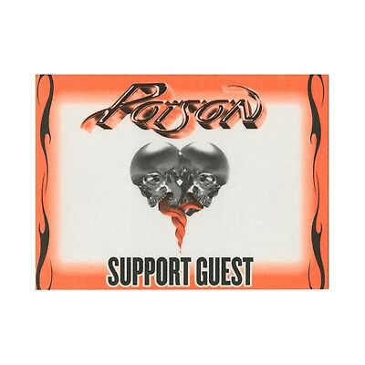 Poison Green authentic 2008 Live, Raw & Uncut Tour satin backstage pass support