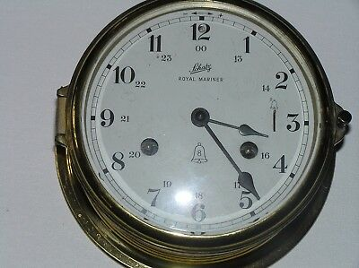 Shatz Royal Mariner Ship's Clock, Eight bells West Germany, working condition.