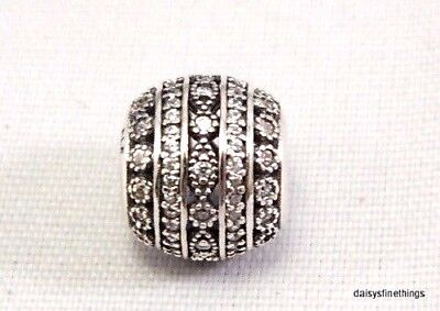 fb79a477f New! Authentic Pandora Silver Charm Glittering Shapes Clear Cz's #796243Cz