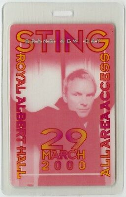 Sting authentic 2000 concert Laminated Backstage Pass Brand New Tour Police