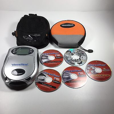 Video Now Personal Black/White Video Player CD's Jimmy Neutron Shark Week Cases