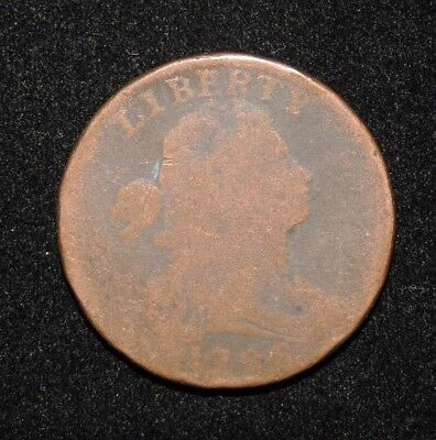 1796 U.S. Draped Bust Large Cent Early Copper Type Coin