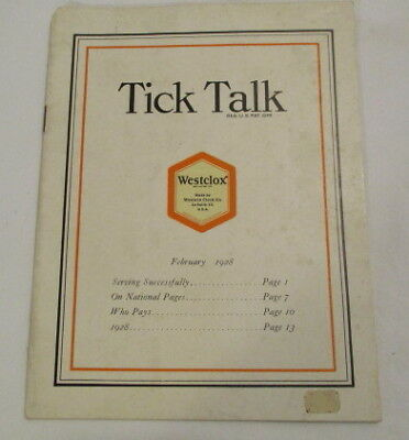 1928 Westclox Booklet Vintage Westclox Booklet 16 Pages Tick Talk