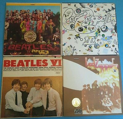 ROCK LP VINYL LOT of 4 ~ LED ZEPPELIN & THE BEATLES