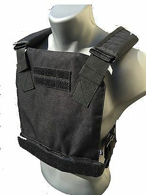 BAM Low Profile Bullet Proof CONCEALED Vest for AR500 Body Armor - BLACK