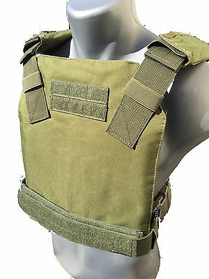 BAM Low Profile Bullet Proof CONCEALED Vest for AR500 Body Armor - OD GREEN