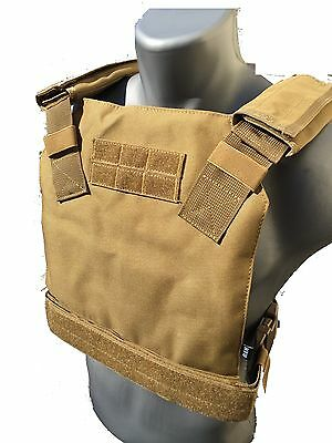 BAM Low Profile Bullet Proof CONCEALED Vest for AR500 Body Armor - TAN