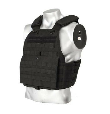 BAM QUAD Vest ONLY for use with AR500 Body Armor - Bullet Proof Vest - BLACK