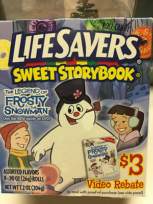 """Life Savers Roll Candy SWEET STORYBOOK """"The Legend of Frosty the Snowman"""""""