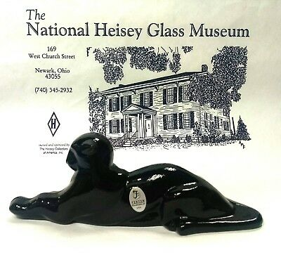 Heisey by Fenton Tiger Paperweight in Black