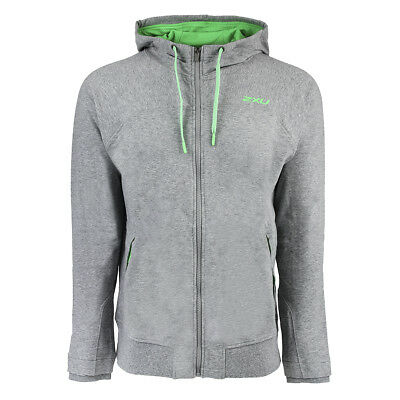 2XU Men's X Recovery Panelled Hoodie Moon Grey Marle/Radiant Green L