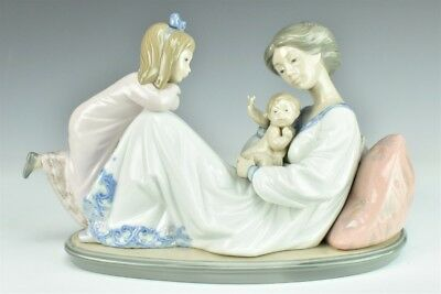 Retired LLADRO Spain Latest Edition 1606 Mother Baby Porcelain Figurine NR LSW