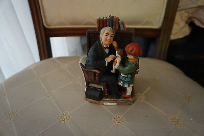 """""""Doctor and Doll"""" Norman Rockwell Ceramic Authentic"""