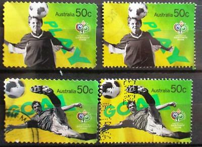 Australia 2006 World cup football 4 stamps, good used
