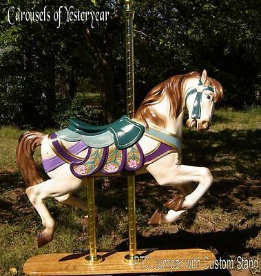 PTC Jumper Carousel Horse on Stand -Full Size-Can Be Sat On, No Motion