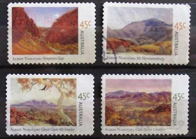 Australia 2002 Albert Namatjira paintings 4 P&S stamps, good used