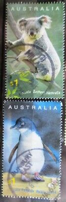 Australia 2004 Koala and Fairy penguin 2 high value stamps, good used