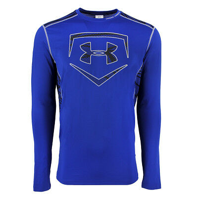 Under Armour Men's Raid Baseball L/S Fitted Tee Royal Blue/Steel/Black L