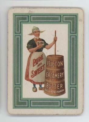 Isleton Creamery Butter Queen of Hearts playing card