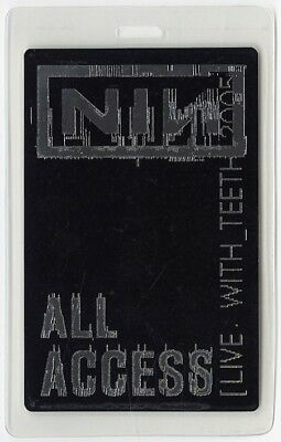 Nine Inch Nails authentic 2005 Laminated Backstage Pass Live: With Teeth Tour AA