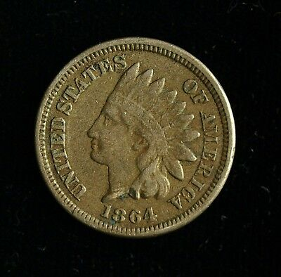 1864 Indian Head Cent ☆☆ Nice Details ☆☆☆☆