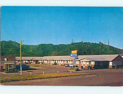 Pre-1980 OLD CARS & PACIFIC MOTEL AT WINCHESTER BAY Reedsport Oregon OR M0216
