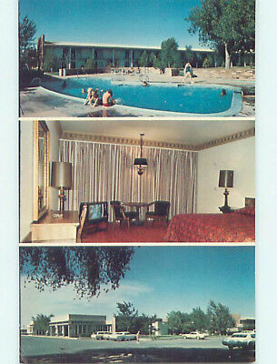 Unused Pre-1980 OLD CARS & ROSWELL INN MOTEL Roswell New Mexico NM L1643