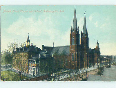 Unused Divided-Back CHURCH SCENE Indianapolis Indiana IN L5041