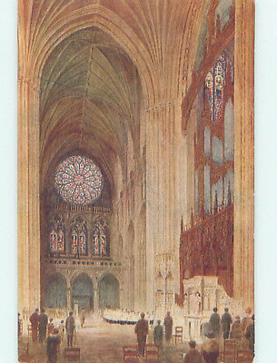Unused Divided-Back CATHEDRAL CHURCH SCENE Washington DC L4992