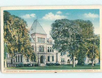 Bent c1920 LIBRARY AND HALLS AT BROWN UNIVERSITY Province Rhode Island RI L8134