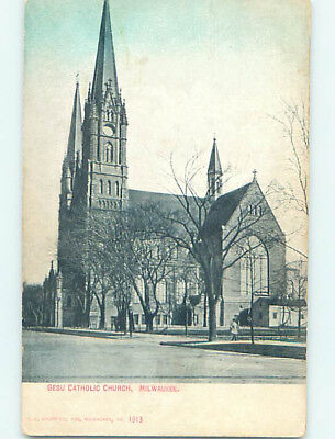 Unused Divided-Back CHURCH SCENE Milwaukee Wisconsin WI L5021