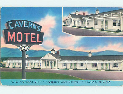 Pre-1980 CAVERNS MOTEL Luray Virginia VA M2226