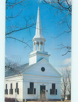 Pre-1980 CHURCH SCENE Durham New Hampshire NH L5561