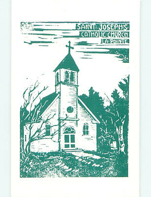 Unused Pre-1980 CHURCH SCENE Lapointe Wisconsin WI L4100
