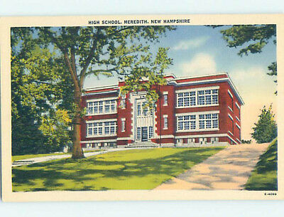 Unused Linen HIGH SCHOOL Meredith New Hampshire NH L9912