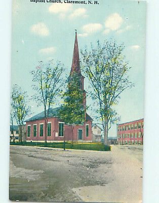 Divided-Back CHURCH SCENE Claremont New Hampshire NH L5982