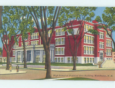 Unused Linen HIGH SCHOOL Manchester New Hampshire NH L9995