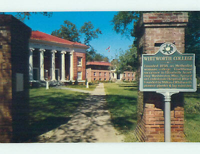 Pre-1980 BUILDINGS THAT WHITWORTH COLLEGE Brookhaven Mississippi MS L8926-19