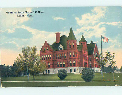 Divided-Back MONTANA STATE NORMAL COLLEGE Dillon Montana MT L9638