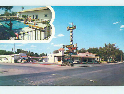Unused Pre-1980 OLD CARS & BROADWAY MOTEL Las Cruces New Mexico NM M0264