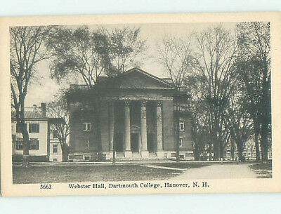 Pre-Chrome WEBSTER HALL AT DARTMOUTH COLLEGE Hanover New Hampshire NH L9345