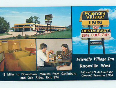 Pre-1980 FRIENDLY VILLAGE MOTEL Concord Tennessee TN M3056