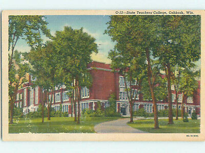 Linen BUILDING AT STATE TEACHERS COLLEGE Oshkosh Wisconsin WI L9400